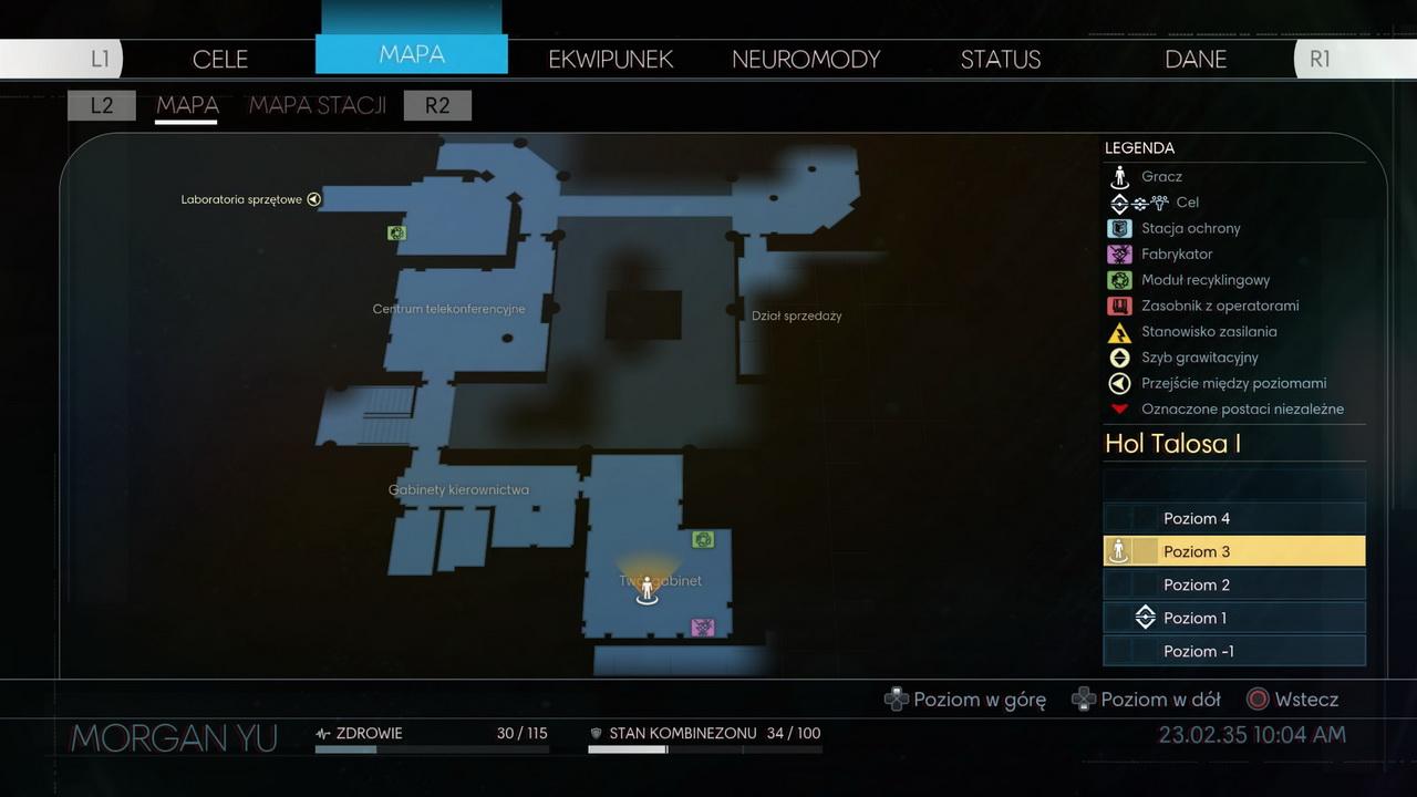 Prey - mapa stacji Talos-1