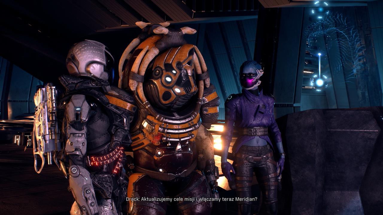 Mass Effect Andromeda - Ryder, Drax i Peebee