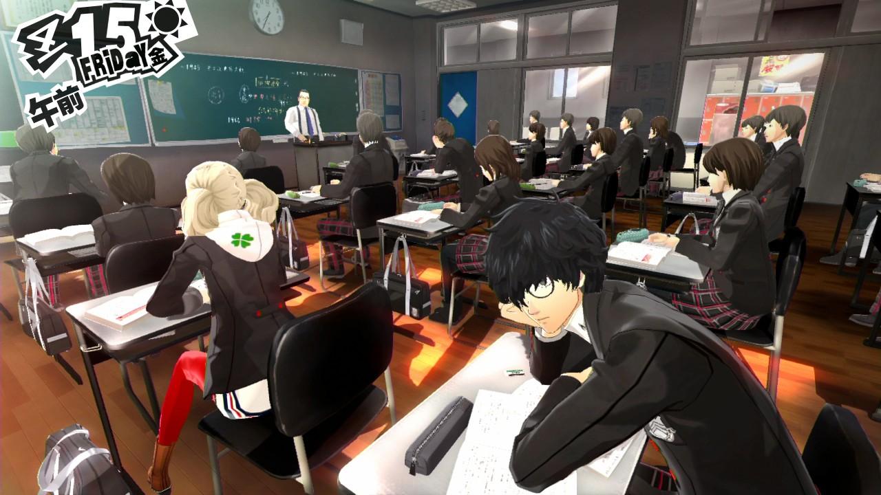 Persona 5 - w ławce szkolnej