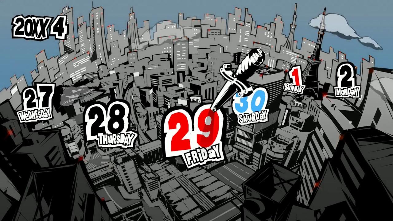 Persona 5 - przelatujące dni