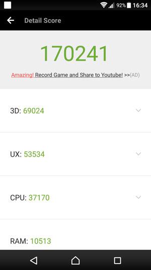 Sony Xperia XZ Premium - Antutu 6 - Snapdragon 835