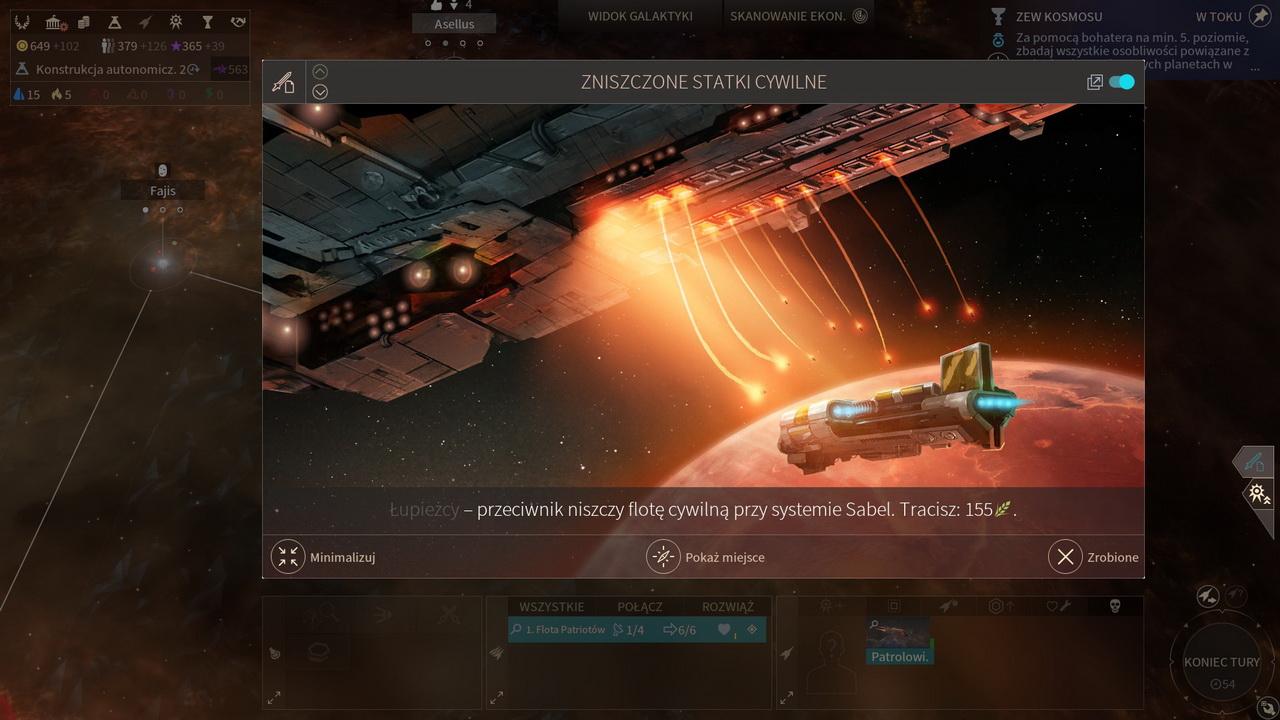 Endless Space 2 - atak na statki