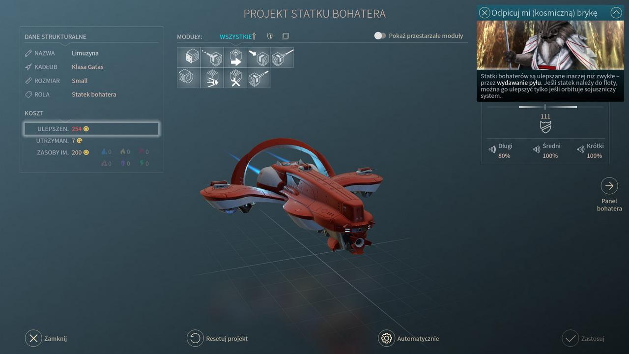 Endless Space 2 - statek bohatera