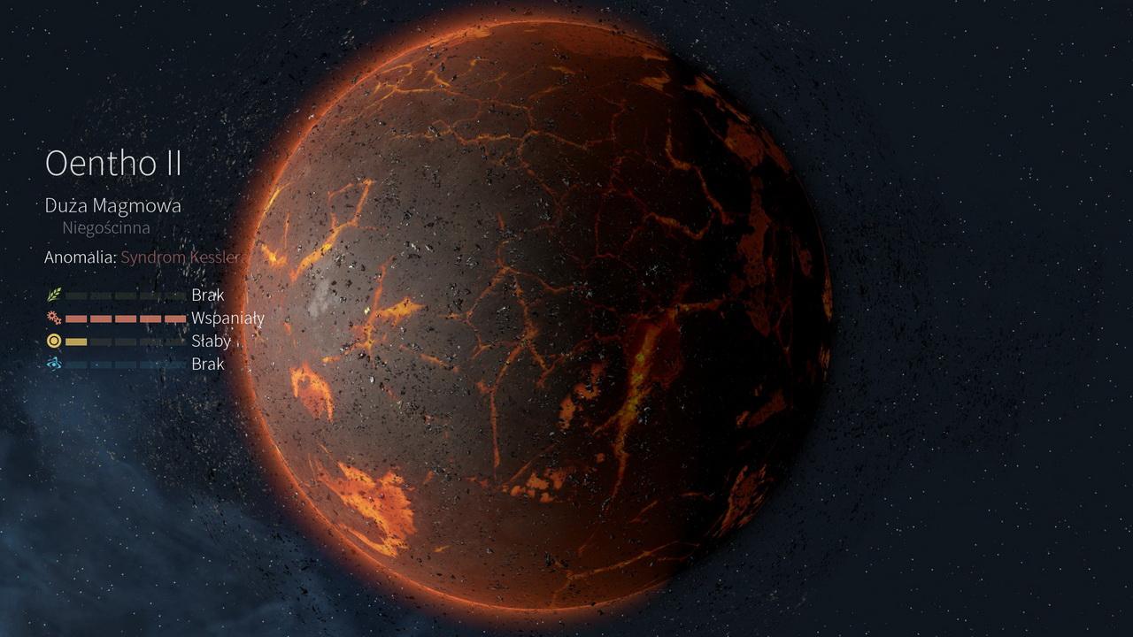 Endless Space 2 - planeta magmowa Oentho II