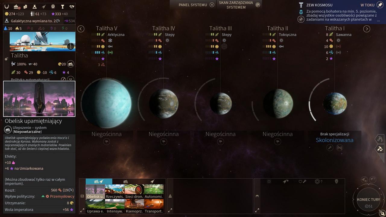 Endless Space 2 - przegląd planet systemu