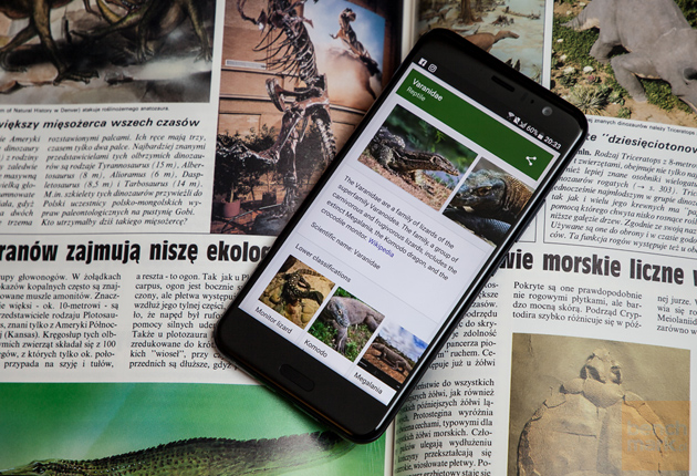 HTC U11 książka, tekst