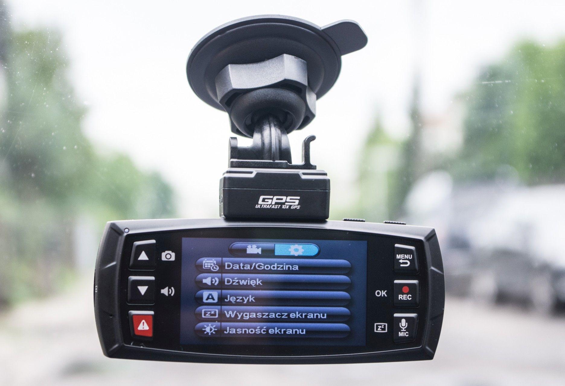 DOD LS470W GPS ustawienia menu