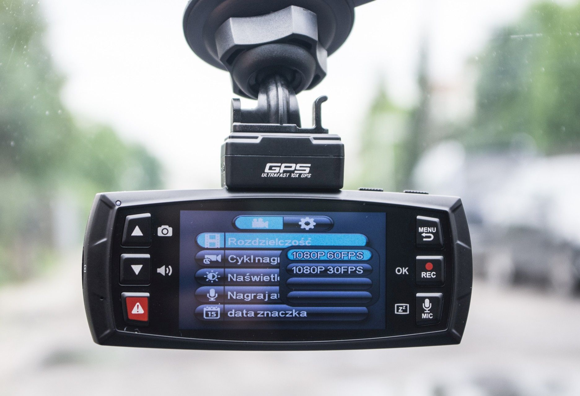 DOD LS470W GPS jakość nagrań