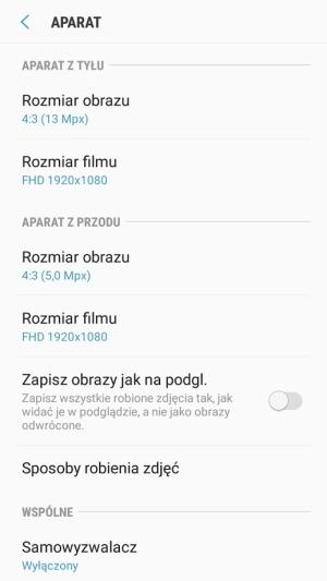 Galaxy Xcover 4 aparat aplikacja