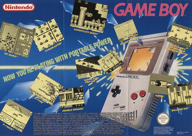 Granie w kieszeni - reklama Gameboya