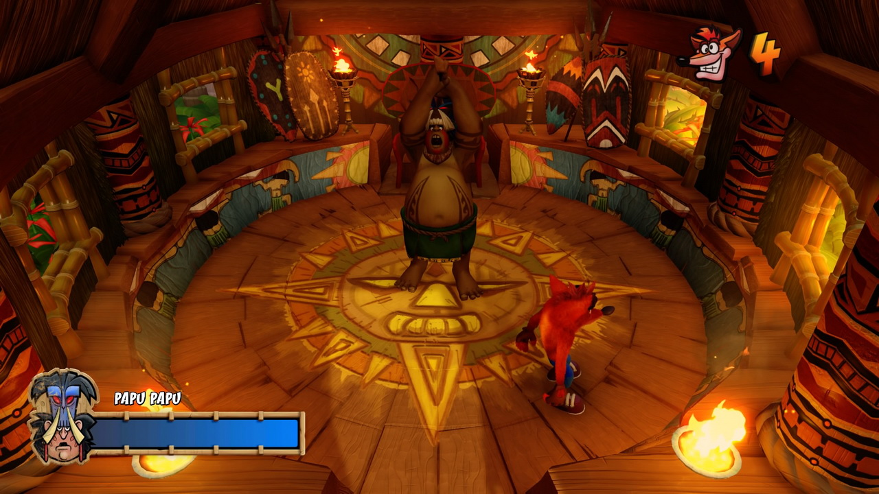 Crash Bandicoot N.Sane Trilogy - walka z bossem