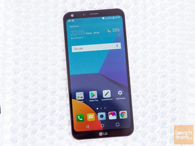 LG Q6 ekran włączony