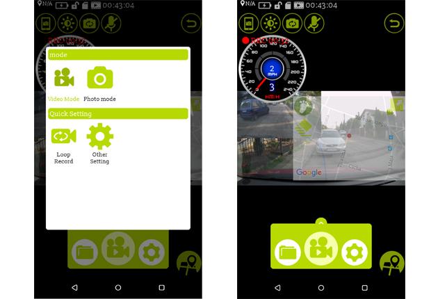 DOD RC500S podgląd w aplikacji mobilnej