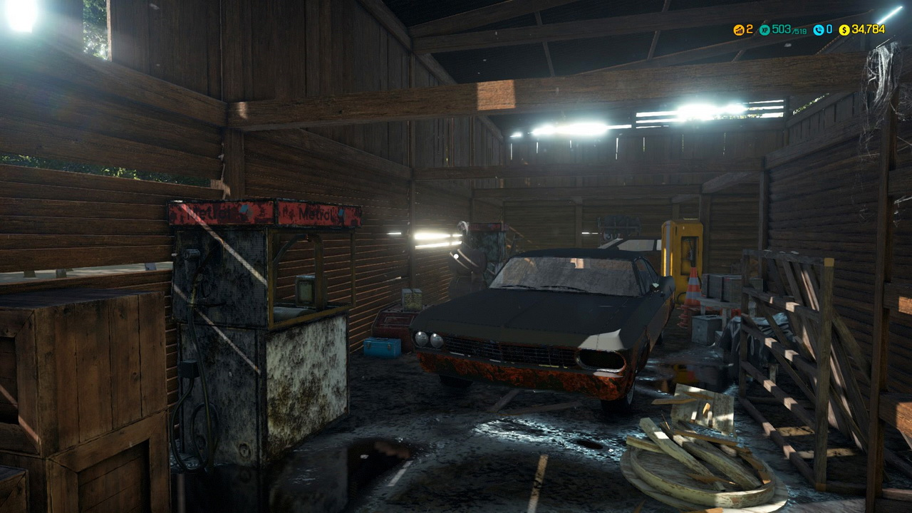 Car Mechanic Simulator 2018 - szopa z rdzewiejącym wrakiem