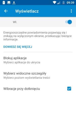 Moto G5 Plus wyświetlacz powiadomienia