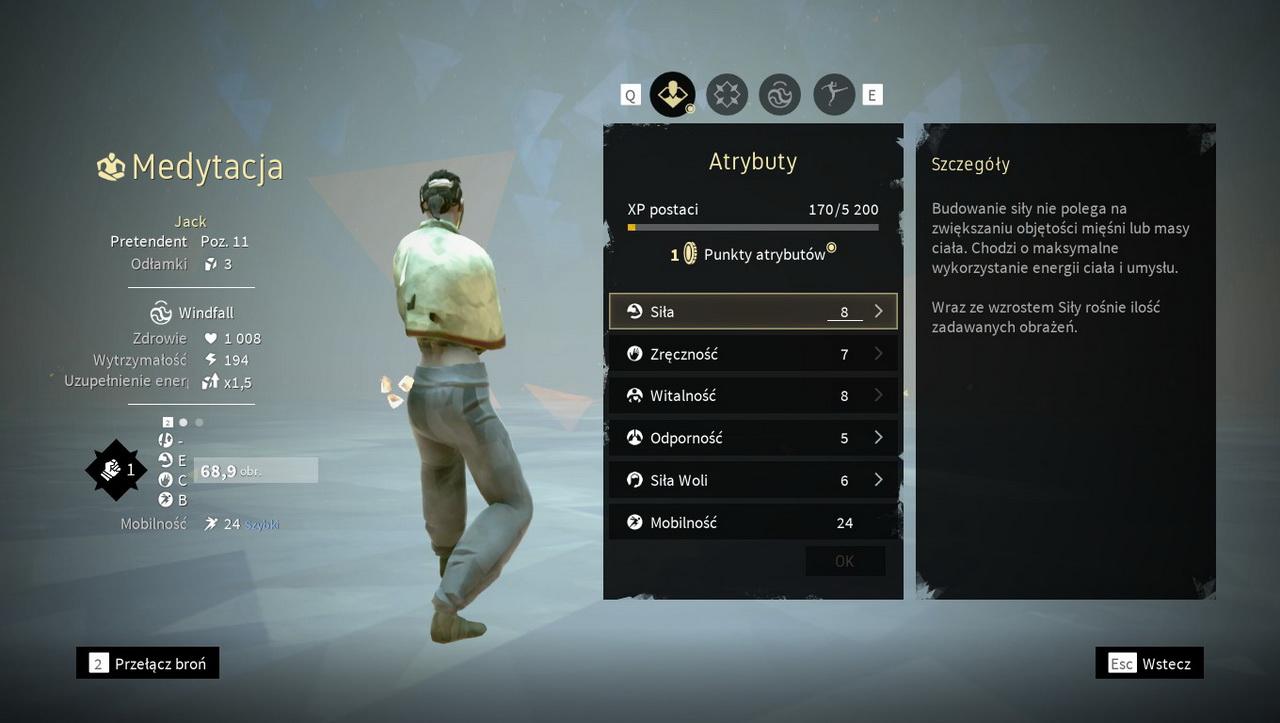 Absolver - system rozwoju postaci