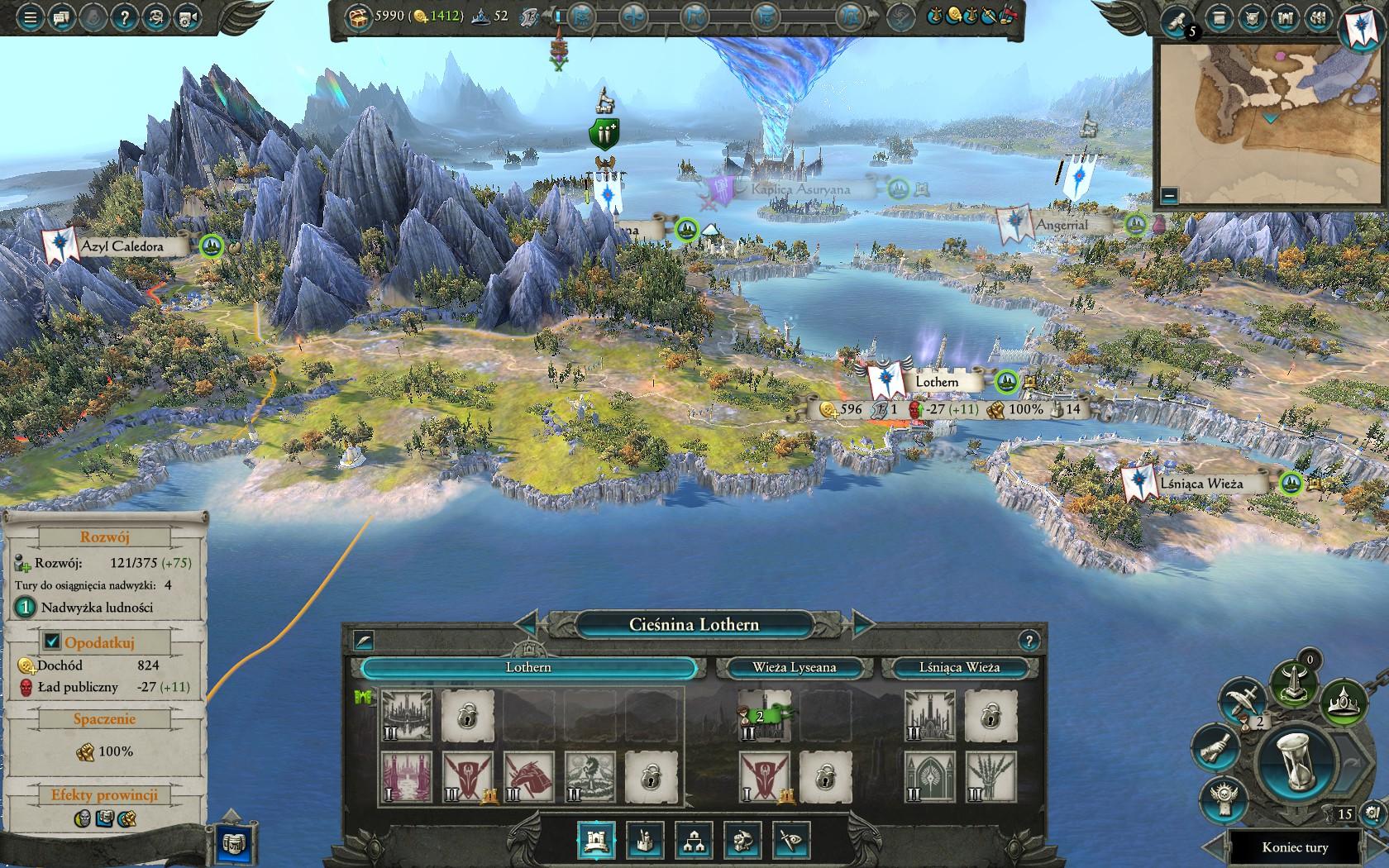 Total War: Warhammer II - mapa świata