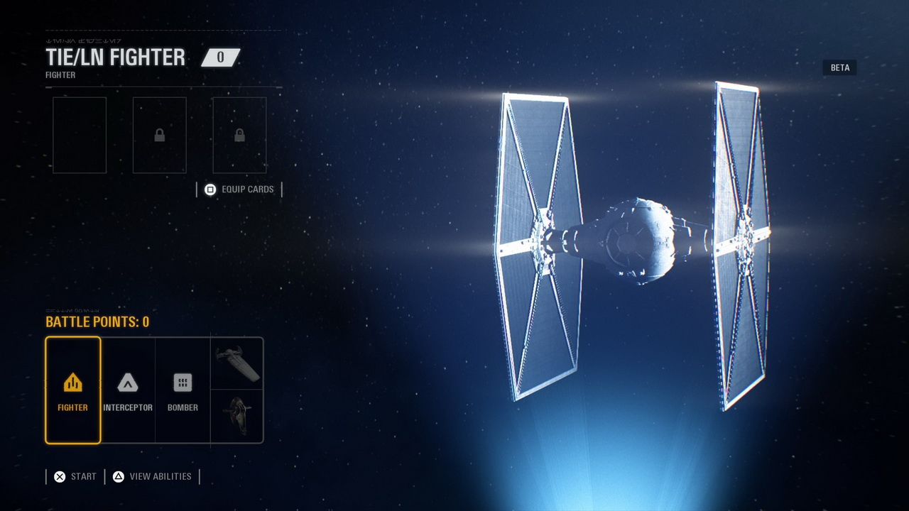 Star Wars: Battlefront II - wybór statku