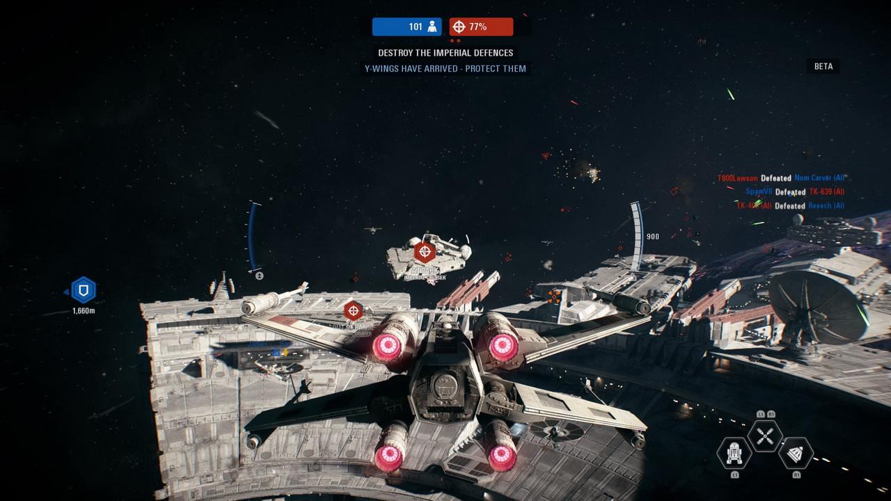 Star Wars: Battlefront II - bitwa w kosmosie