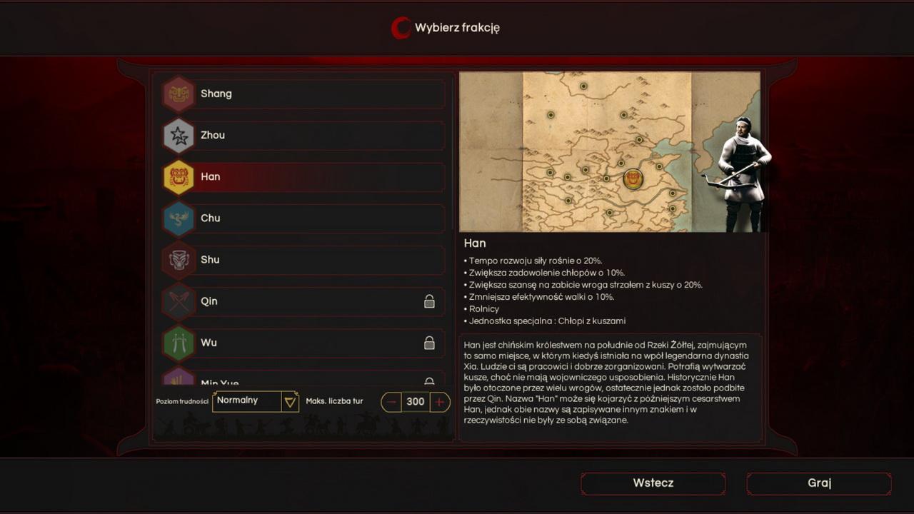 Oriental Empires - wybór frakcji