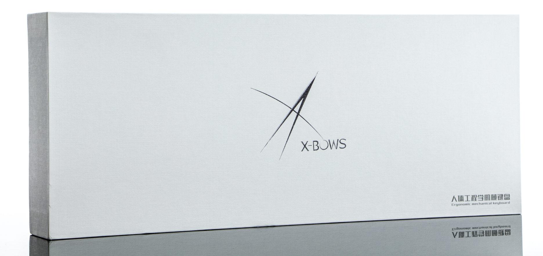 X-Bows Mechanical Ergonomic Keyboard - pudełko z klawiaturą