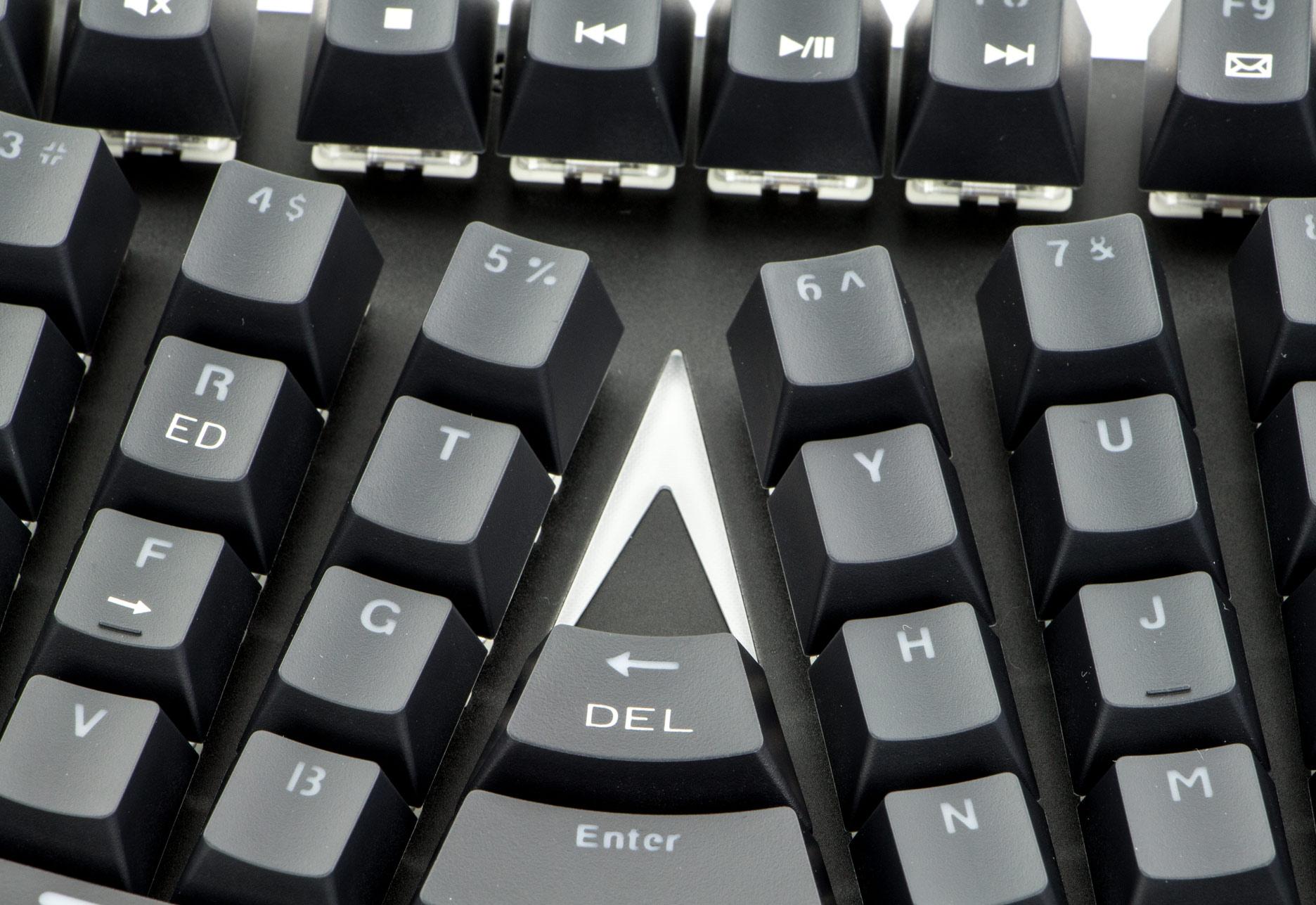 X-Bows Mechanical Ergonomic Keyboard - podświetlane logo