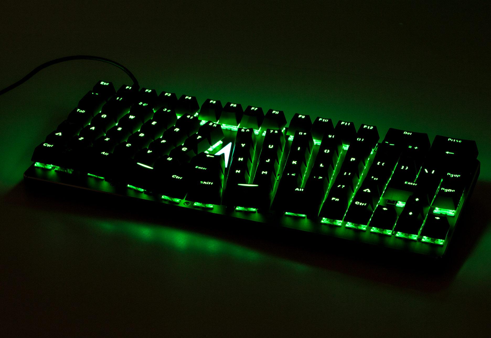 X-Bows Mechanical Ergonomic Keyboard - zielone podświetlenie