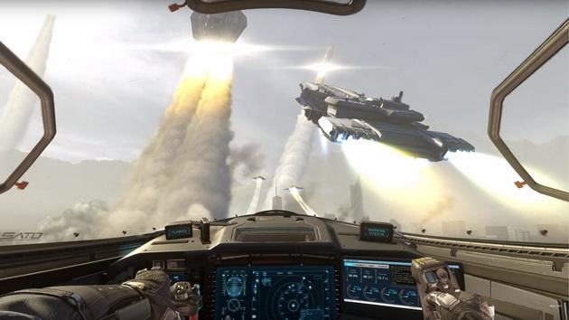 Call of Duty: Infinite Warfare - startujące statki kosmiczne