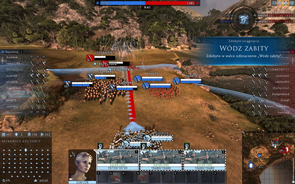 Total War: Arena - wódz zabity