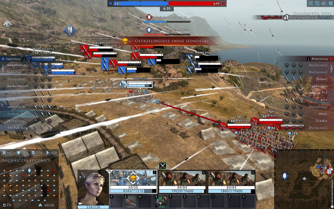 Total War: Arena - deszcz strzał