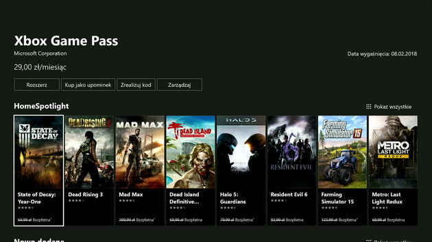 Xbox One X - Xbox Game Pass