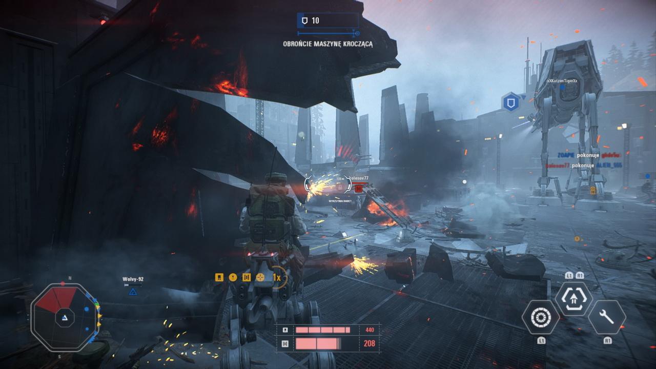 Star Wars: Battlefront II - obrona maszyny kroczącej