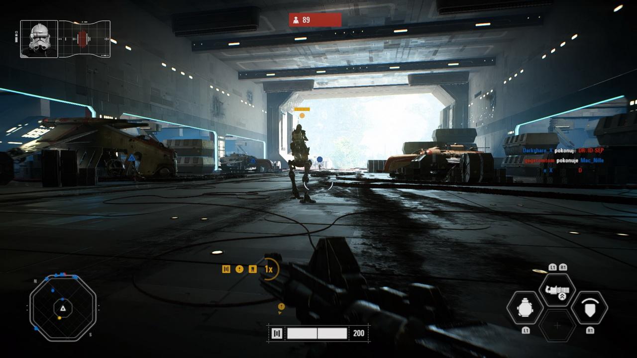 Star Wars: Battlefront II - wyjście z hangaru
