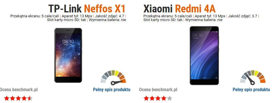 Neffos X1 vs Xiaomi Redmi 4A