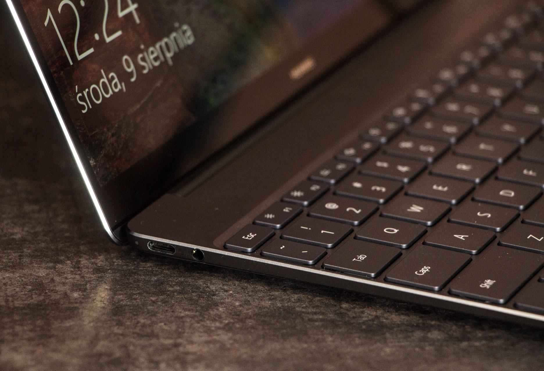 Huawei MateBook X lewy bok