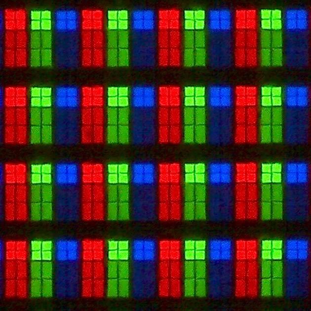 Samsung 49MU7002 - struktura subpixeli