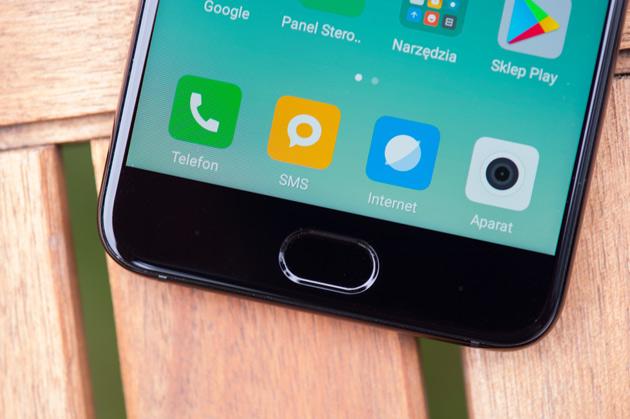 Xiaomi Mi 6 - czytnik linii papilarnych