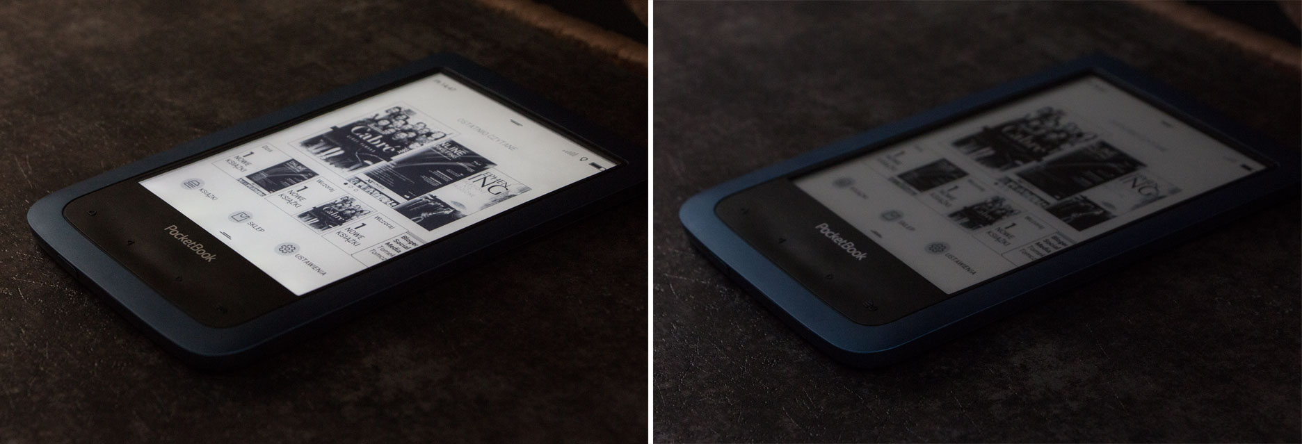 PocketBook Aqua 2 doświetlenie ekranu