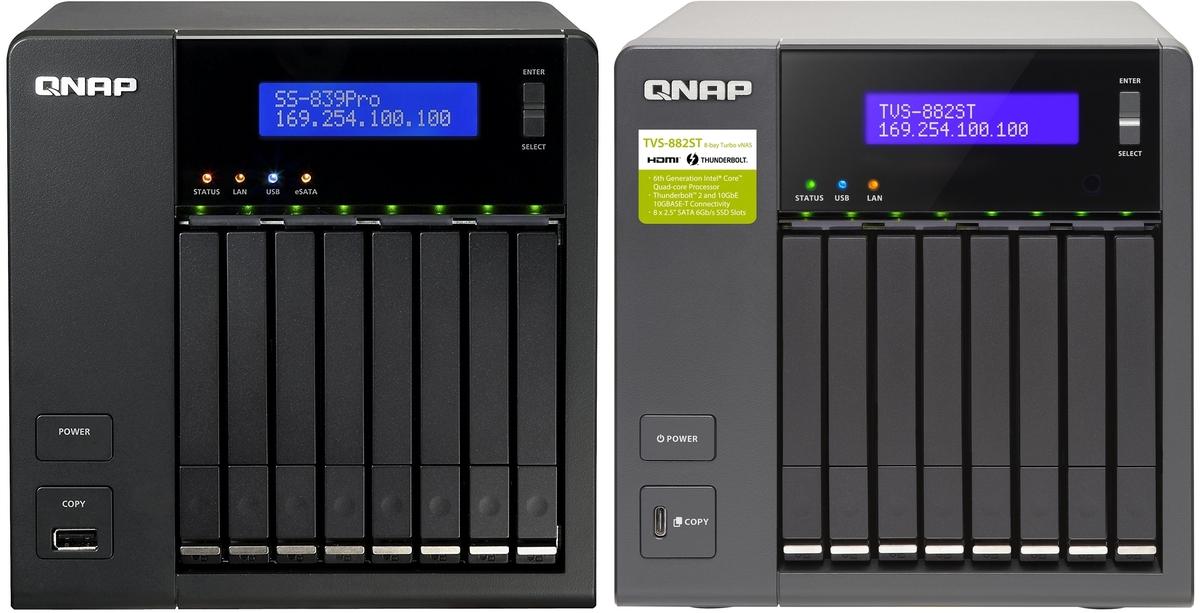 Porownanie QNAP TVS