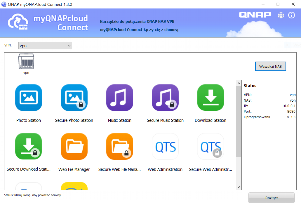 Test serwera NAS QNAP TVS-882ST  QNAP TVS-882ST2 w sieci