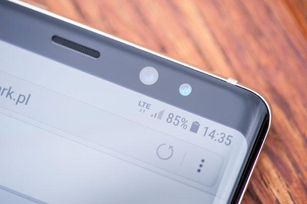 Galaxy Note 8 - skaner tęczówki oka