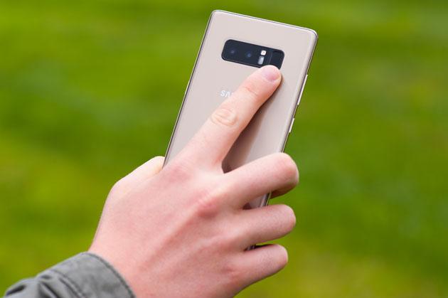 Galaxy Note 8 - skaner linii papilarnych