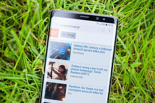 Galaxy Note 8 - wyświetlacz