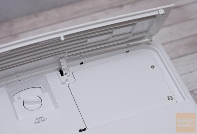 Optoma UHD550X pokrętło i pokrywa