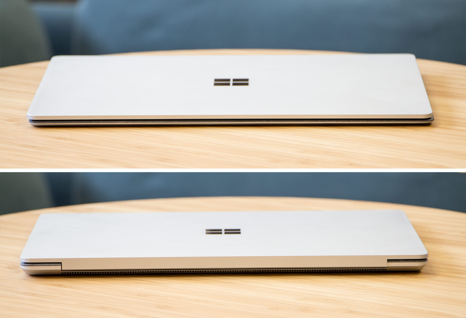 Microsoft Surface Laptop przód i tył