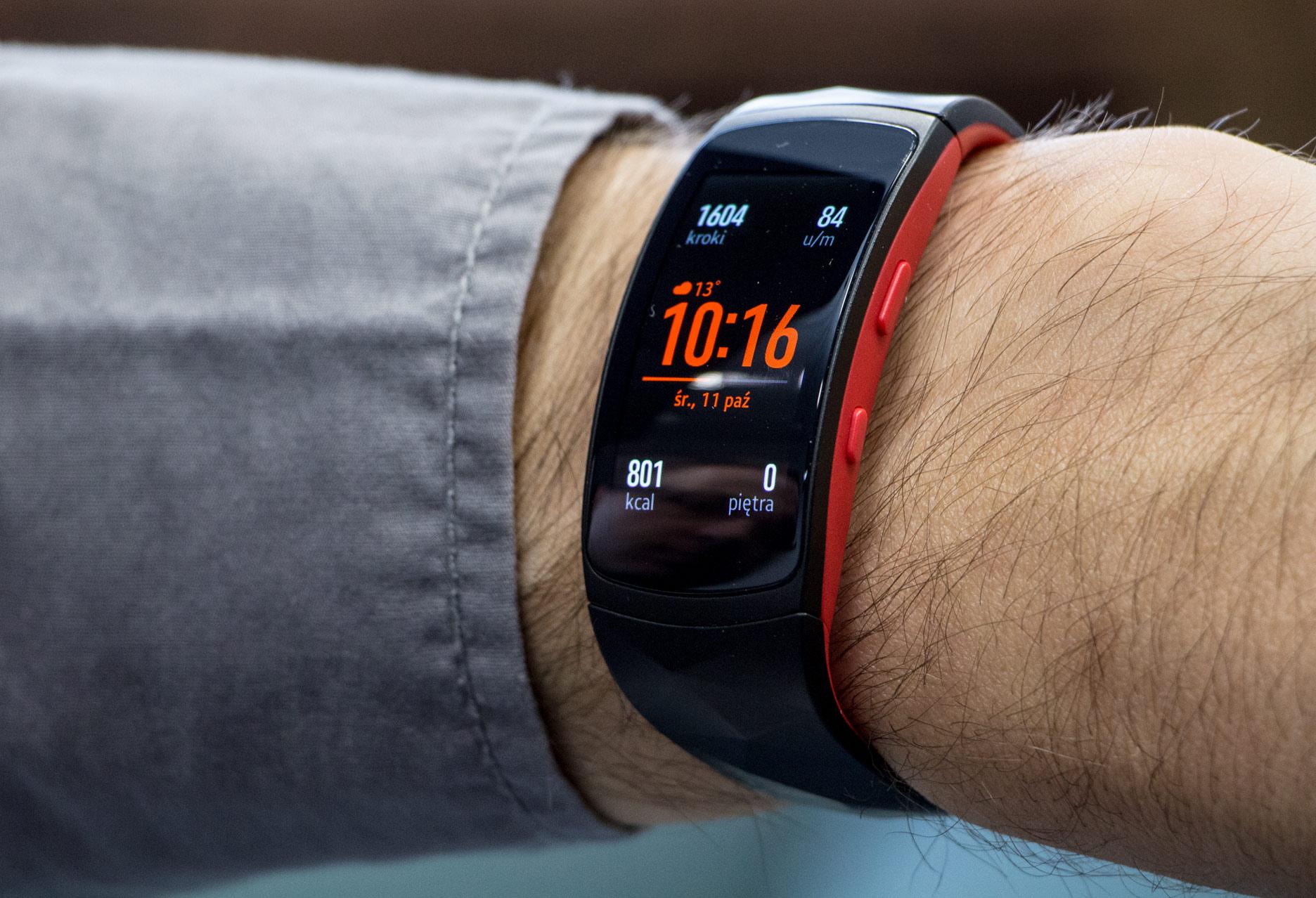 Samsung Gear Fit2 Pro opaska na ręce