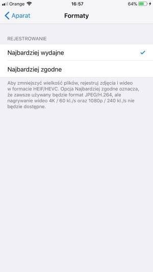 iPhone 8 Plus formaty