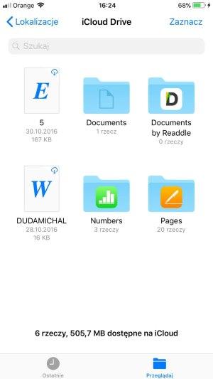 iPhone 8 Plus dokumenty