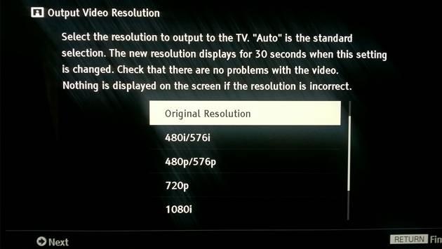 Sony UBP-X800 - wyjściowa rozdzielczość