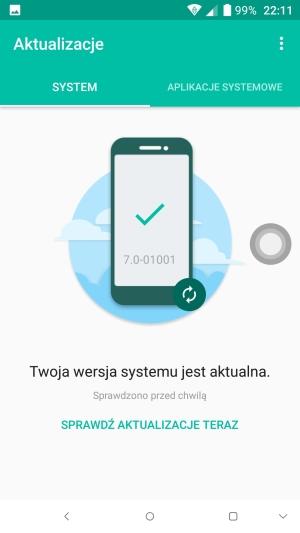 Alcatel Idol 5 system aktualizacje